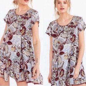 Urban Outfitters Floral Raw Hem Mini Dress | XS